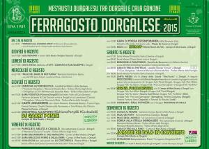 Programma Ferragosto Dorgalese 2015