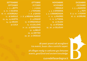 PROGRAMMA AUTUNNO IN BARBAGIA 2016