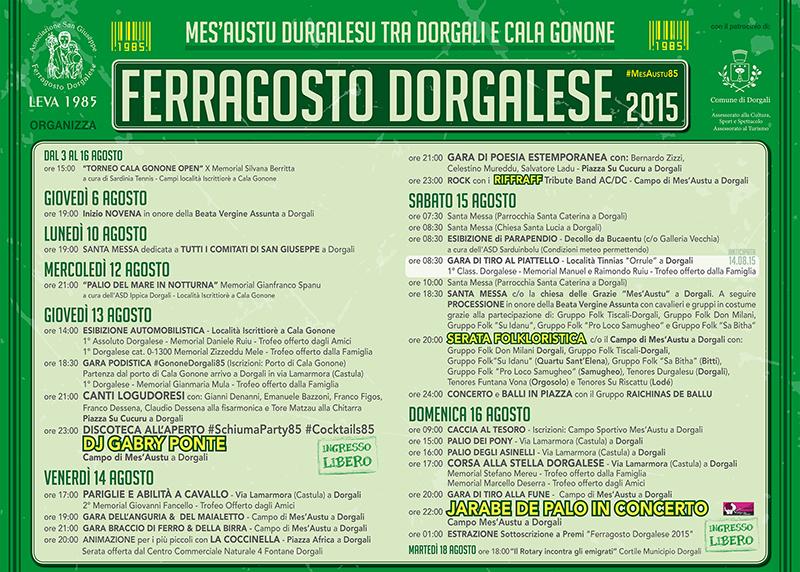 Ferragosto Dorgalese 2015