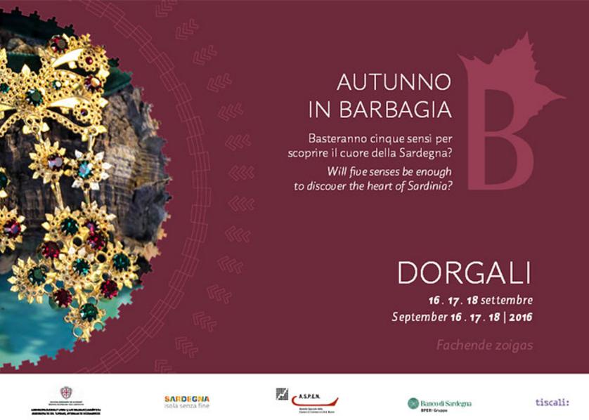 Dorgali – Autunno in Barbagia 16-17-18 Settembre 2016